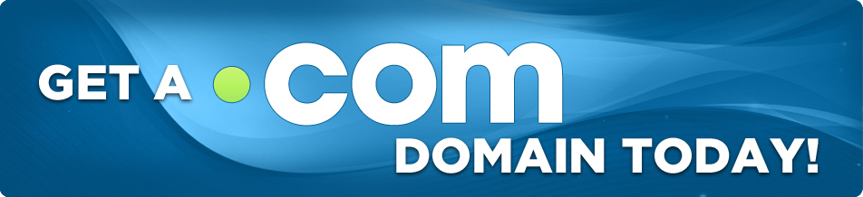 Get a .COM domain today!